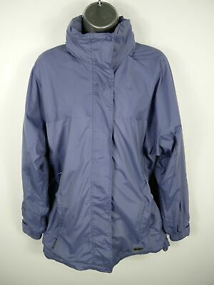Womens Peter Storm Lilac Purple Zip Up Hooded Water/Windproof Rain Coat S Small