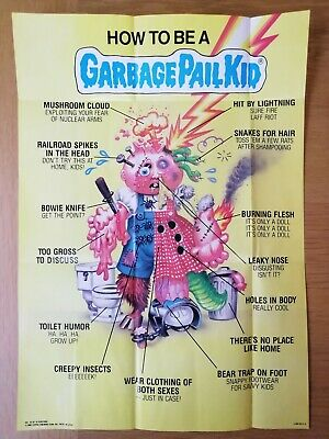 1986 Garbage Pail Kids Poster ~ HOW TO BE A GPK #16 Vintage ~ Topps ~Pack Fresh