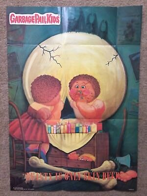 "1986 Garbage Pail Kids Poster~ ""BEAUTY IS ONLY SKIN DEEP"" #13 Vintage~Topps ~New"