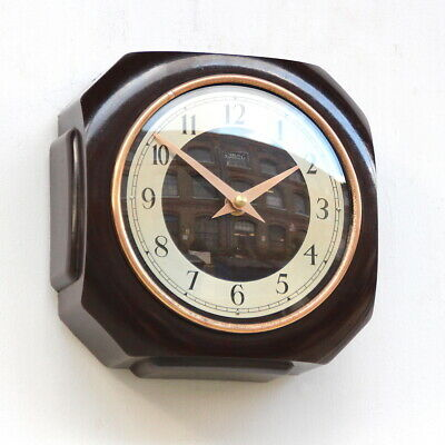 ENGLISH STERLING 1950s Bakelite Vintage Retro Industrial Factory Wall Clock