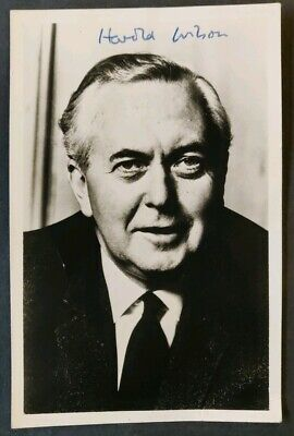 Harold Wilson Signed Photo - UK Prime Minister - 1964-70 and 1974-76 - Labour