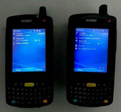 Lot of 2 Motorola Symbol N410 Wireless Handheld Computer Barcode Scanners MC7095