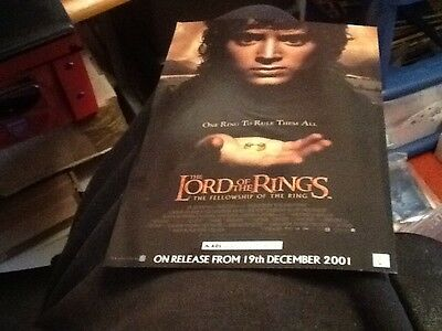 Job Lot Of 10 Lord Of The Rings Fellowship Of The Ring Showcase Cinema Flyers