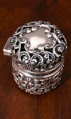 - Unger Bros. Sterling Silver Thimble Case With Chain Loop