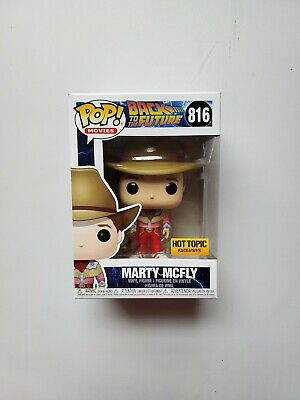 Funko Pop Back To The Future Marty McFly Cowboy 2019 Hot Topic Exclusive #816