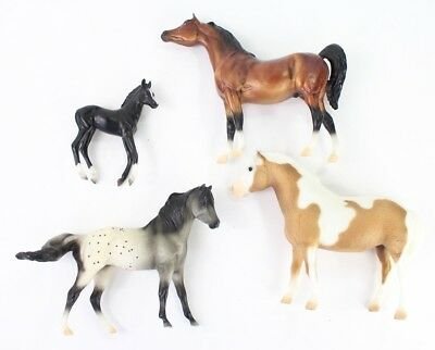 x4 Lot of 4 Breyer Reeves Miniature Horses Toys Collectibles Equestrian Rare!