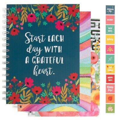 Spiral Notebook Monthly Daily Weekly Undated Calendar Planner Hardcover Journal
