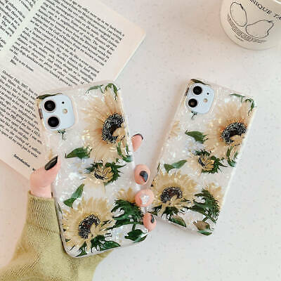 For iPhone 11 Pro Max XR XS 6s 7 8 Plus X Sunflower Soft TPU Silicone Case Cover