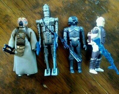 Vintage STAR WARS Bounty Hunter Action Figure LOT of 4 COMPLETE WITH WEAPONS