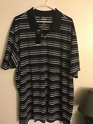 NWT  Mens Adidas Golf Puremotion Performance Polo Shirt 3XL Black