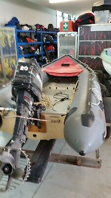 Avon rhib with 20hp motor and trailer