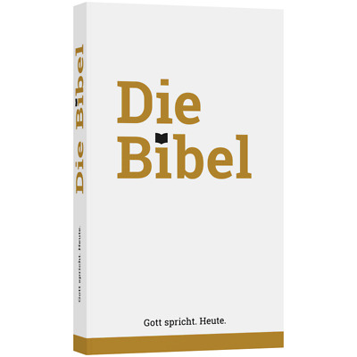 German Bible, Die Bibel, Schlachter 2000, Paperback, Gold/White, Economy Edition