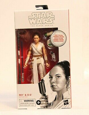 """Star Wars The Black Series 6"""" First Edition Rey & D-0 #91 Rise of Skywalker HTF"""