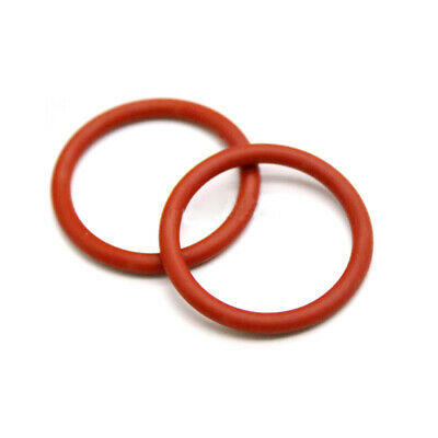 10x Red Silicon Rubber O Rings Food Grade 1/1.5/2/3/4/5mm Cross Section All Size