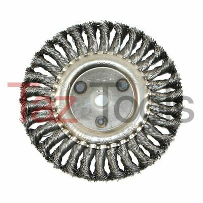 """6"""" Coarse Knotted Knot Wire Wheel Brush For Bench Grinder 9000 Rpm"""