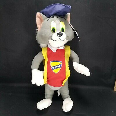 "Tom & Jerry Tom the Cat Plush Nanco Three Musketeers 14"" Rare Stuffed Animal"