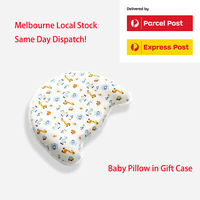 Baby Infant Memory Foam Head Shape Pillow 3-level support 6m to 18m Cot Pillow