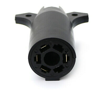 Flat Conversion Adapter Connector 7-Way Round to 4-Way For Truck Trailer RV Boat