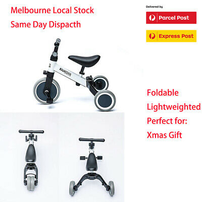 Kiwicool 2 in1 Foldable Lightweight Toddler Ride-on Toy Balance Bike & Tricycle