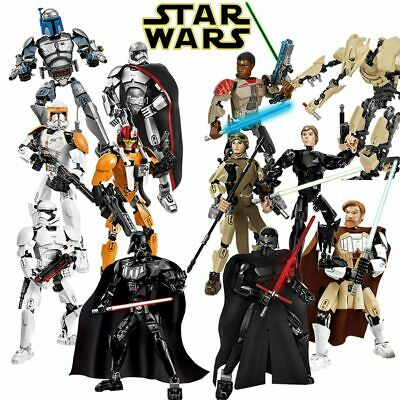 Star Wars Lot Buildable Figure Building Block Toy Kylo Ren Chewbacca Darth Vader