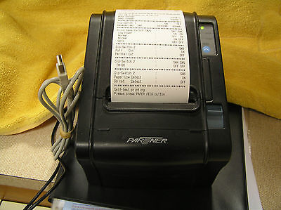 PARTNER TECH RP-300-H Thermal POS Receipt Printer USB W POWER SUPPLY