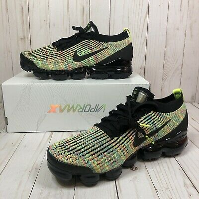Nike Air Vapormax Flyknit 3 Mens AJ6900-006 Multi Color Running Shoes Size 10.5