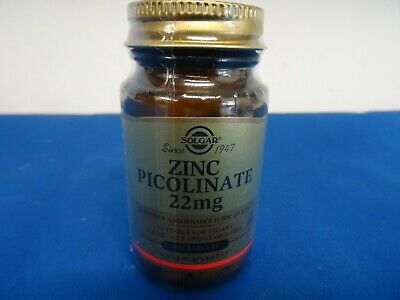 ZINC PICOLINATE 22mg - 100 TABLETS - SOLGAR - 08/2021