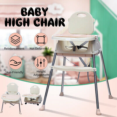 3 in 1 Adjustable Portable Baby Highchair Kids Toddler Eating High Chair Feeding