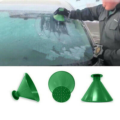 Magical Car Windshield Ice Snow Remover Scraper Tool Shaped Round Funnel Cone UK