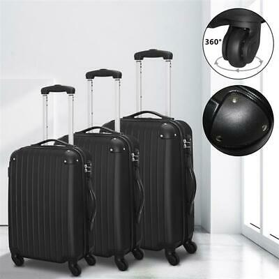 "Set of 3 Luggage Set Travel Bag Trolley Spinner Carry On Suitcase 20"" 24"" 28"""