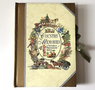 Victorian Style Photo Album Scrapbook Christmas Gift Country Scenes Floral