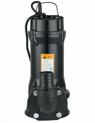 220V 1HP 750W Industrial Sewage Cutter Grinder Cast iron Submersible Sump Pump m