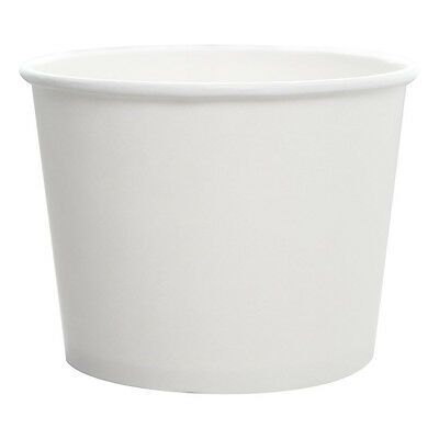 Karat CKDP16W, 16 Oz White Paper Cold and Hot Food Container, 1000/Cs
