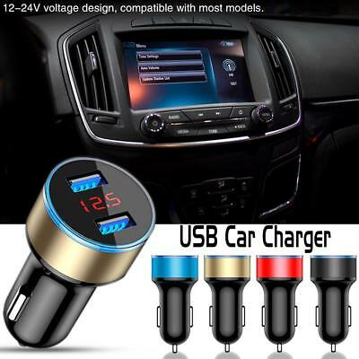 5V 3.1A Dual USB Car Charger Adapter 2 Port LCD Display For Mobile Phone GPS
