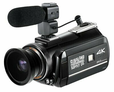 4K Ultra HD Infrared Night Vision / Full Spectrum Camcorder w/Ext Microphone