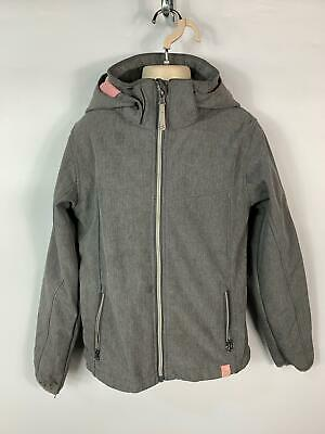 Girls H&M Grey Winter Hooded Light Weight Padded Coat Jacket Kids Age 10/11 Year
