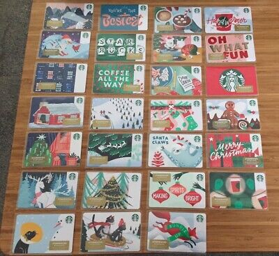 53 New Starbucks 2019 Christmas Holiday Gift Cards Lot