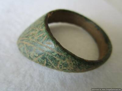 Big bronze Roman ring for bow, rare, authentic, patina !!!