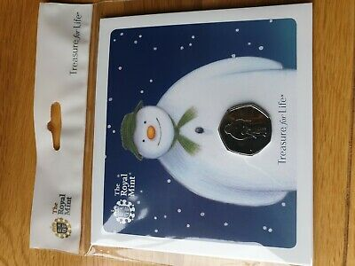 2019 Snowman and James 50p Coin Royal Mint BU BUNC Brand New Pack