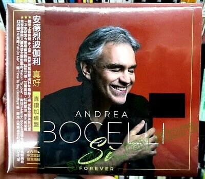 Andrea Bocelli Si Forever Taiwan CD OBI Lyrics Poster Diamond Dua Lipa 2019 NEW