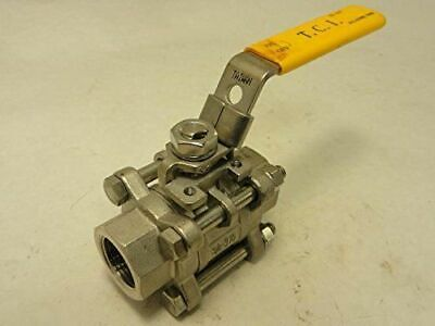 "1/4"" 316 Stainless Steel Ball Valve 6 Pieces"