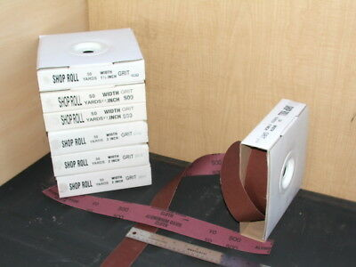 """500 grit Sanding / Shop Roll 2"""" inch Wide - Qty 2 Total - Free Shipping"""