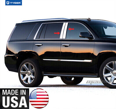 TYGER For 02-06 Cadillac Escalade Pickup 4PC Stainless Steel Window Sill Overlay