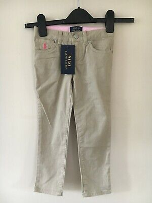 Ralph Lauren girls Beige Trousers, size 4 years.