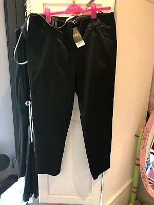 Womens NEXT Smart Black Trousers BNWT Size 14 rrp £30