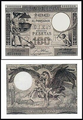 Facsimil Billete 100 Pesetas de 1903 NE - Reproduction