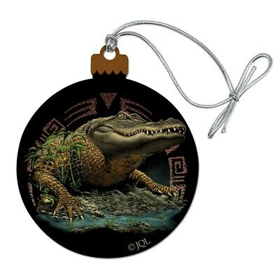 Graphics and More Smiling Tropical Alligator Palm Trees Oval Tow Hitch Cover Trailer Plug Insert 2