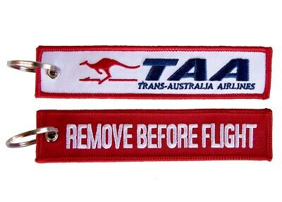 TAA Remove Before Flight Key Ring Luggage Tag - NEW
