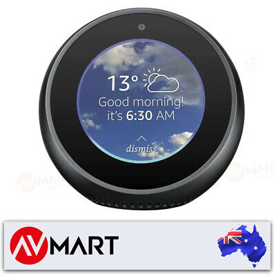 Amazon B074BMLG1V Echo Spot Smart Home Speaker - Black