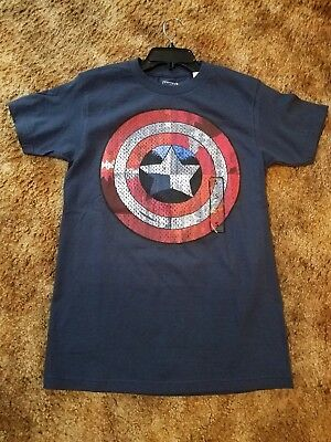 Marvel Captain America Shield Graphic Tee Size Small